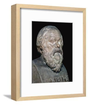 Bust of the Greek philosopher Socrates, 5th century BC. Artist: Unknown-Unknown-Framed Giclee Print