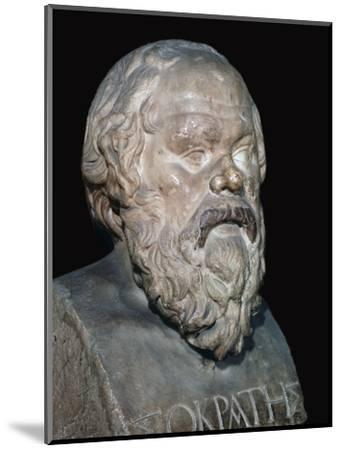 Bust of the Greek philosopher Socrates, 5th century BC. Artist: Unknown-Unknown-Mounted Giclee Print