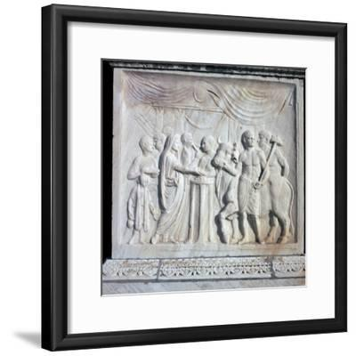 An altar dedicated to the Roman Imperial cult, 1st century. Artist: Unknown-Unknown-Framed Giclee Print