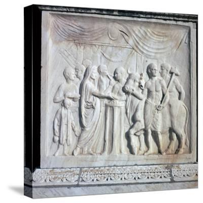 An altar dedicated to the Roman Imperial cult, 1st century. Artist: Unknown-Unknown-Stretched Canvas Print