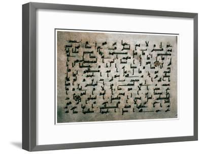 Page of the Koran from Egypt, 9th century. Artist: Unknown-Unknown-Framed Giclee Print