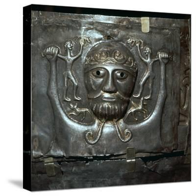 Detail from the Celtic Gundestrop Cauldron, 3rd century. Artist: Unknown-Unknown-Stretched Canvas Print