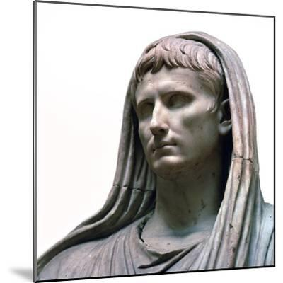 Sculpture of the Emperor Augustus as the Pontifex Maximus, 1st century BC. Artist: Unknown-Unknown-Mounted Giclee Print