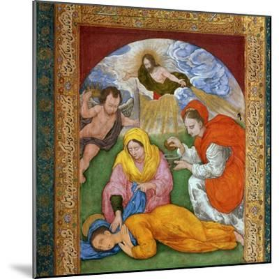 Painting of the martyrdom of St Cecilia, 3rd century. Artist: Unknown-Unknown-Mounted Giclee Print