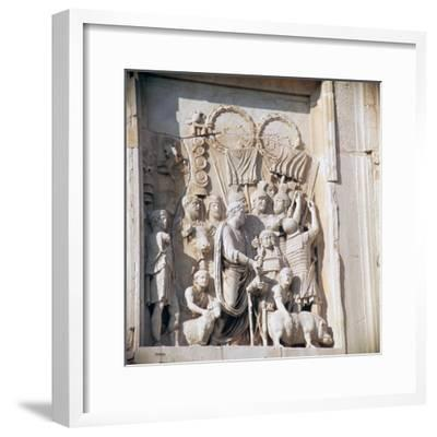 Detail from the arch of Constantine, 3rd century. Artist: Unknown-Unknown-Framed Giclee Print