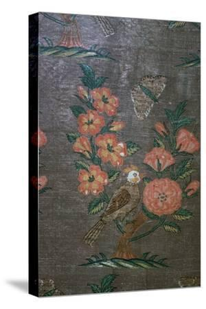 17th century Iranian textile fragment, 17th century. Artist: Unknown-Unknown-Stretched Canvas Print