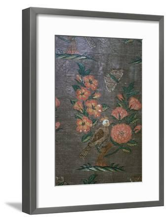 17th century Iranian textile fragment, 17th century. Artist: Unknown-Unknown-Framed Giclee Print