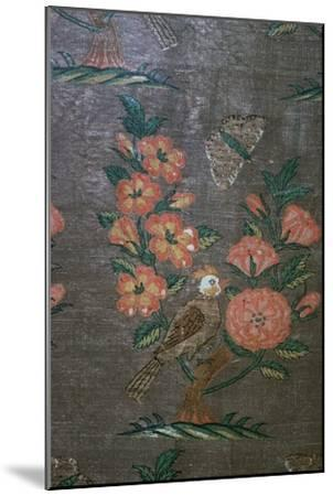 17th century Iranian textile fragment, 17th century. Artist: Unknown-Unknown-Mounted Giclee Print