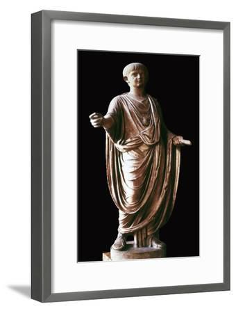 Marble statue of the Roman emperor Nero, 1st century. Artist: Unknown-Unknown-Framed Giclee Print