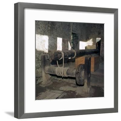 Wine-press in a house in the Roman town of Pompeii, 1st century. Artist: Unknown-Unknown-Framed Giclee Print