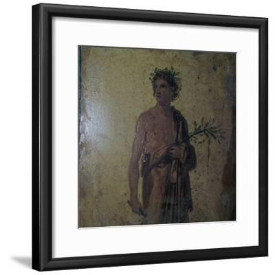 Detail of a Roman wall-painting showing a poet, 1st century. Artist: Unknown-Unknown-Framed Giclee Print