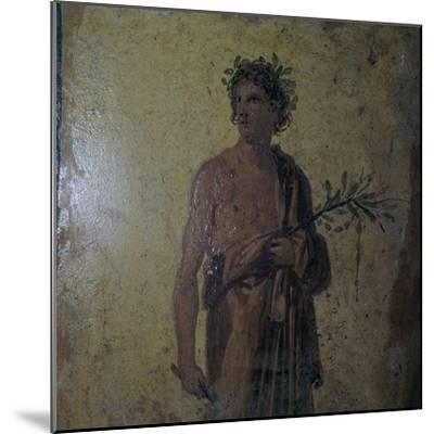 Detail of a Roman wall-painting showing a poet, 1st century. Artist: Unknown-Unknown-Mounted Giclee Print