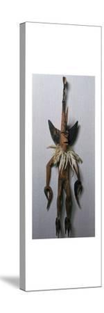 Statuette of the shark spirit Men-Ar-Ta-Lu from Santa Cruz. Artist: Unknown-Unknown-Stretched Canvas Print