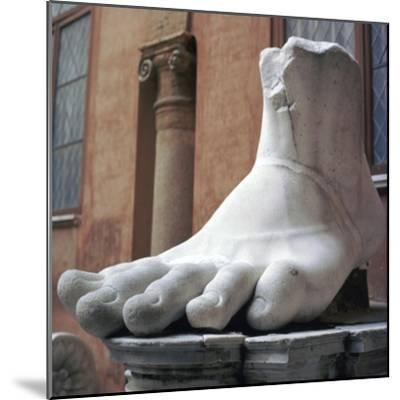 Foot from a colossal Roman statue, 3rd century BC. Artist: Unknown-Unknown-Mounted Giclee Print
