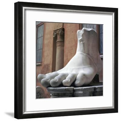 Foot from a colossal Roman statue, 3rd century BC. Artist: Unknown-Unknown-Framed Giclee Print