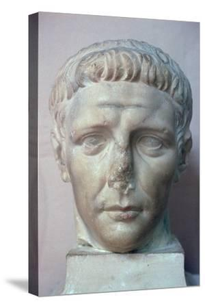 Head of the Roman emperor Claudius, 1st century. Artist: Unknown-Unknown-Stretched Canvas Print