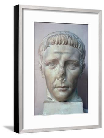 Head of the Roman emperor Claudius, 1st century. Artist: Unknown-Unknown-Framed Giclee Print