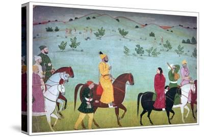 Painting of Mian Mukund Dev of Jasrota, 18th century. Artist: Unknown-Unknown-Stretched Canvas Print
