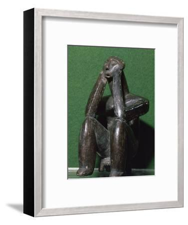 Neolithic figure of a man from Cernavoda. Artist: Unknown-Unknown-Framed Giclee Print