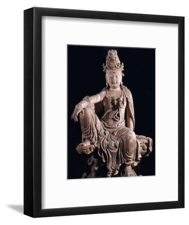 Chinese statuette of Kuan-Yin as a Bodhisattva, 12th century. Artist: Unknown-Unknown-Framed Giclee Print