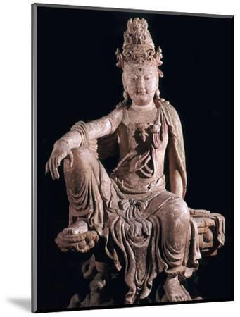 Chinese statuette of Kuan-Yin as a Bodhisattva, 12th century. Artist: Unknown-Unknown-Mounted Giclee Print