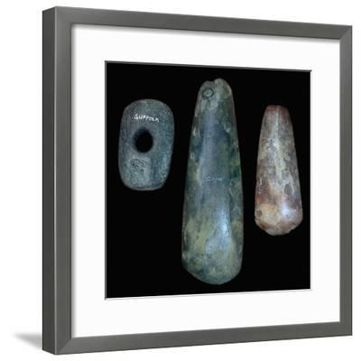 Neolithic stone tools, 31st century BC. Artist: Unknown-Unknown-Framed Giclee Print
