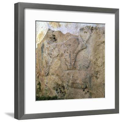 Sow-and-piglets relief from Malta. Artist: Unknown-Unknown-Framed Giclee Print