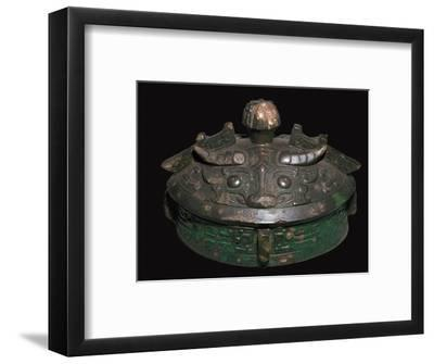 Chinese bronze lid of a wine-vessel, 11th century BC.h Artist: Unknown-Unknown-Framed Giclee Print