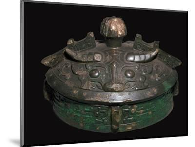 Chinese bronze lid of a wine-vessel, 11th century BC.h Artist: Unknown-Unknown-Mounted Giclee Print