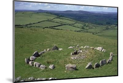 View of Cairn S in the Loughcrew hills, 36th century BC. Artist: Unknown-Unknown-Mounted Photographic Print