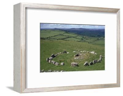 View of Cairn S in the Loughcrew hills, 36th century BC. Artist: Unknown-Unknown-Framed Photographic Print