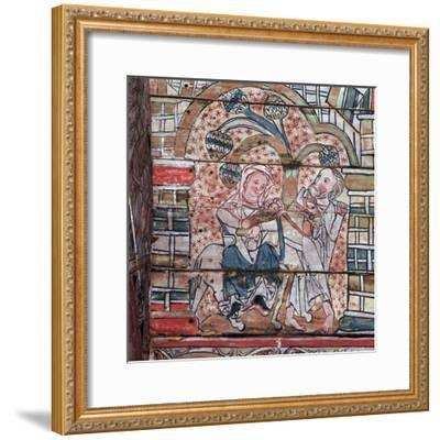 Norwegian painting of the flight to Egypt, 13th century. Artist: Unknown-Unknown-Framed Giclee Print