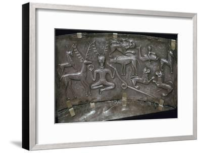 Detail from the Celtic Gundestrop Cauldron, 3rd century. Artist: Unknown-Unknown-Framed Giclee Print