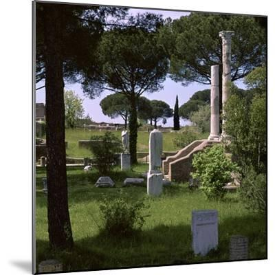 Remains of the temple of Ceres in the Roman port of Ostia, 1st century. Artist: Unknown-Unknown-Mounted Photographic Print