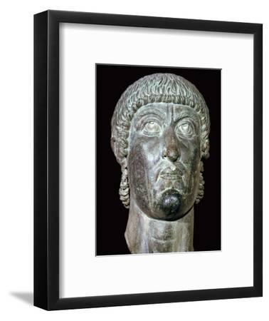 Bronze head of Constantine I, 3rd century BC. Artist: Unknown-Unknown-Framed Giclee Print
