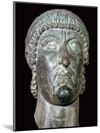 Bronze head of Constantine I, 3rd century BC. Artist: Unknown-Unknown-Mounted Giclee Print