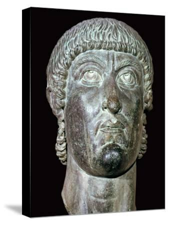 Bronze head of Constantine I, 3rd century BC. Artist: Unknown-Unknown-Stretched Canvas Print