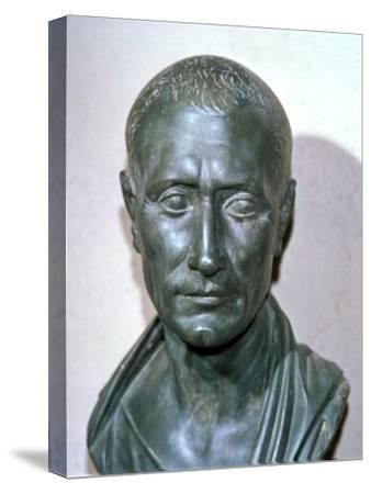 Bust of the late Republican politican Julius Caesar, 1st century BC. Artist: Unknown-Unknown-Stretched Canvas Print