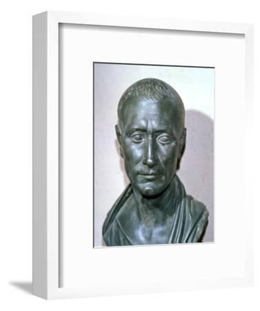 Bust of the late Republican politican Julius Caesar, 1st century BC. Artist: Unknown-Unknown-Framed Giclee Print