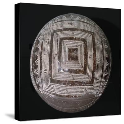 Pottery from an iron age village in Malta. Artist: Unknown-Unknown-Stretched Canvas Print