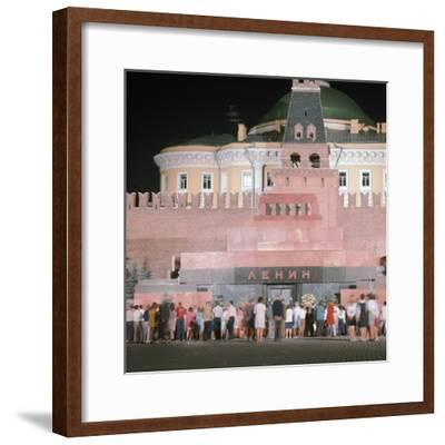Lenin's Tomb. Artist: Unknown-Unknown-Framed Photographic Print