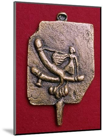 Roman bronze phallic amulet. Artist: Unknown-Unknown-Mounted Giclee Print