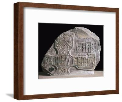 Roskitil cross-fragment on the Isle of Man, 10th century. Artist: Unknown-Unknown-Framed Giclee Print