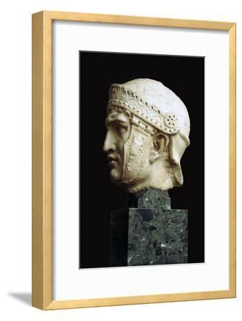 Helmeted head of a Roman soldier, c.1st century. Artist: Unknown-Unknown-Framed Giclee Print