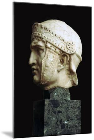 Helmeted head of a Roman soldier, c.1st century. Artist: Unknown-Unknown-Mounted Giclee Print