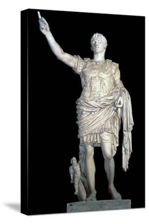 Statue of the Emperor Augustus, 2nd century. Artist: Unknown-Unknown-Stretched Canvas Print