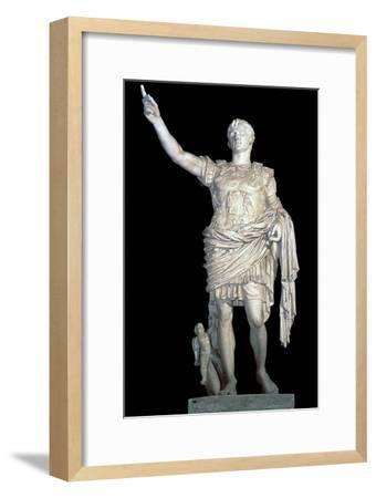 Statue of the Emperor Augustus, 2nd century. Artist: Unknown-Unknown-Framed Giclee Print