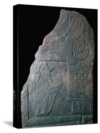 Celtic Calf of Man Crucifixion slab, 8th century. Artist: Unknown-Unknown-Stretched Canvas Print