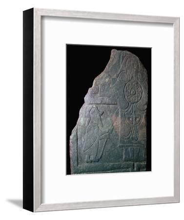 Celtic Calf of Man Crucifixion slab, 8th century. Artist: Unknown-Unknown-Framed Giclee Print