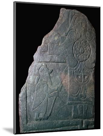 Celtic Calf of Man Crucifixion slab, 8th century. Artist: Unknown-Unknown-Mounted Giclee Print